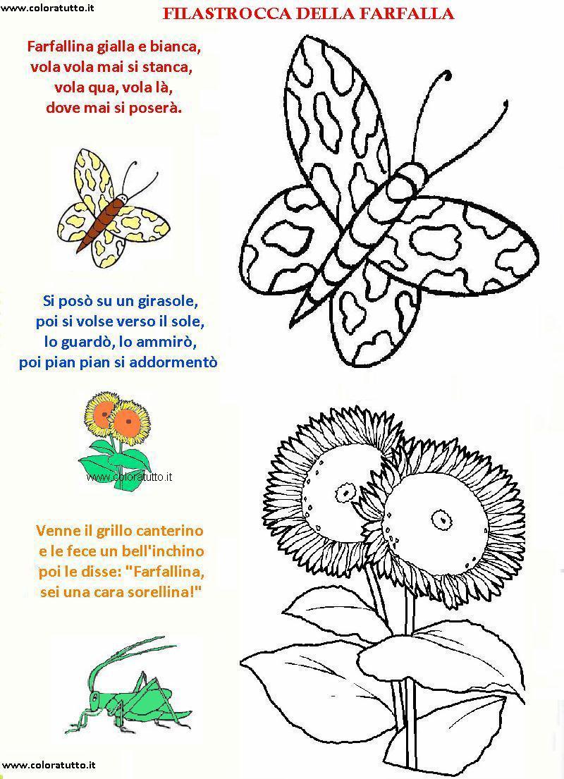 Filastrocche disegni per bambini da colorare for Immagini api per bambini