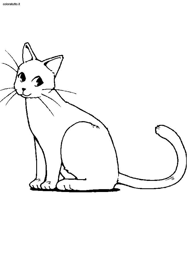 Disegno gatto per bambini gx01 pineglen for Immagini di gatti da colorare