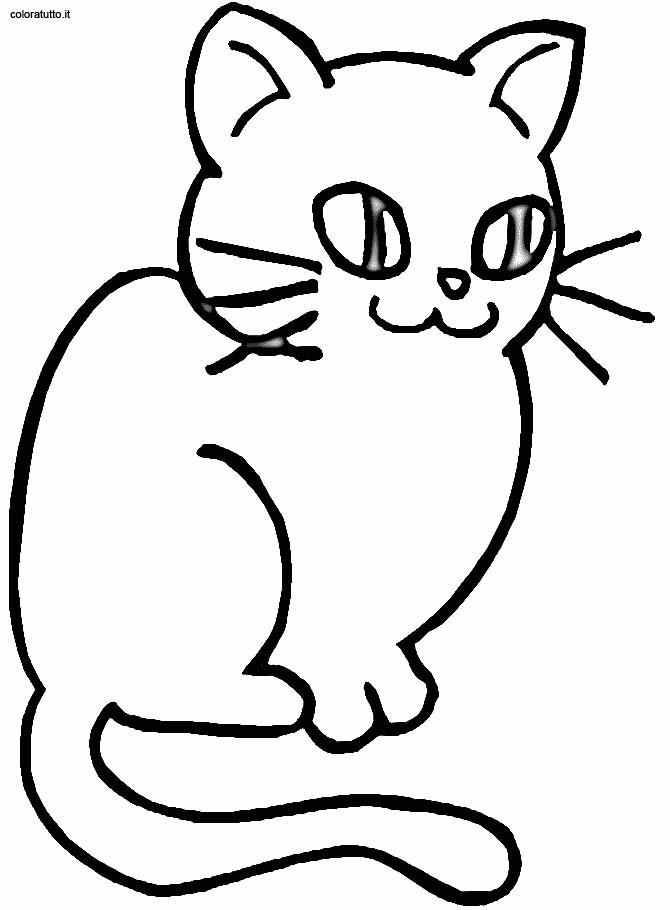 Gatti 4 disegni per bambini da colorare for Disegno gatto facile