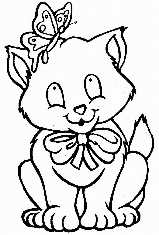 Gatti disegni per bambini da colorare for Cani e gatti da stampare e colorare