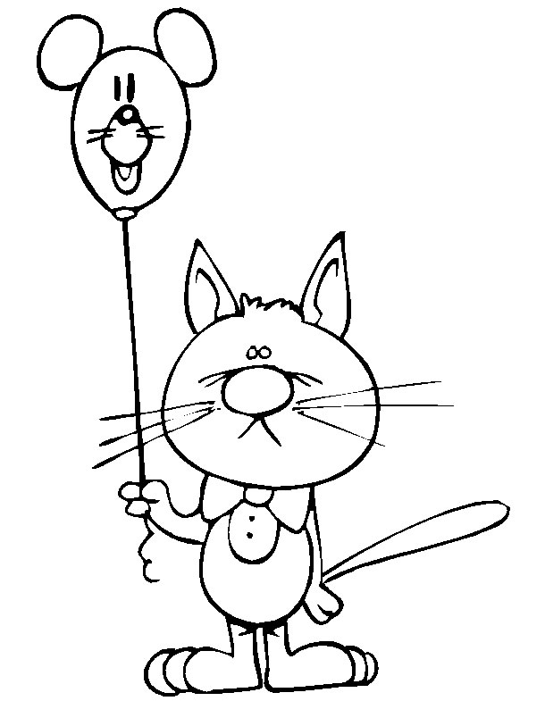 Gatti disegni per bambini da colorare for Disegno gatto facile