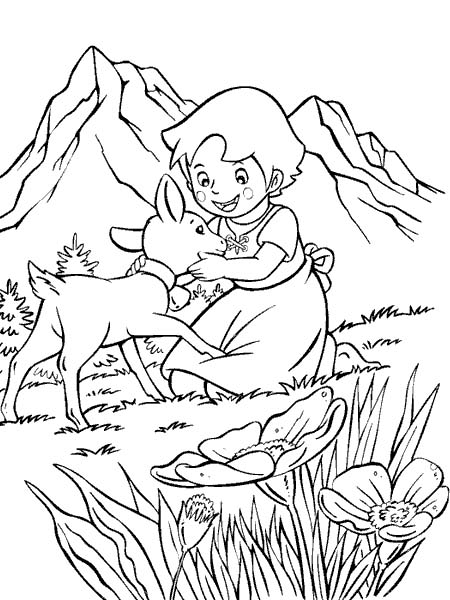 stampa disegni da colorare heidi