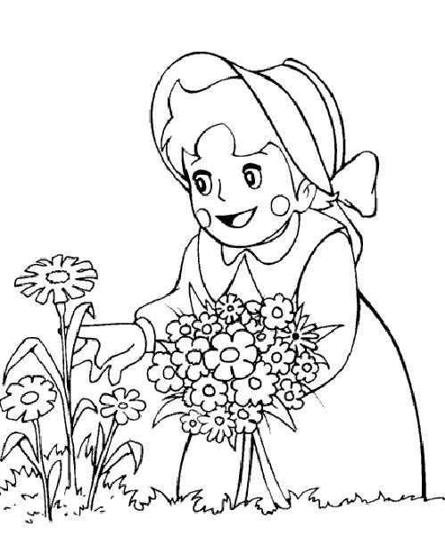 heidi disegni da colorare per bambini