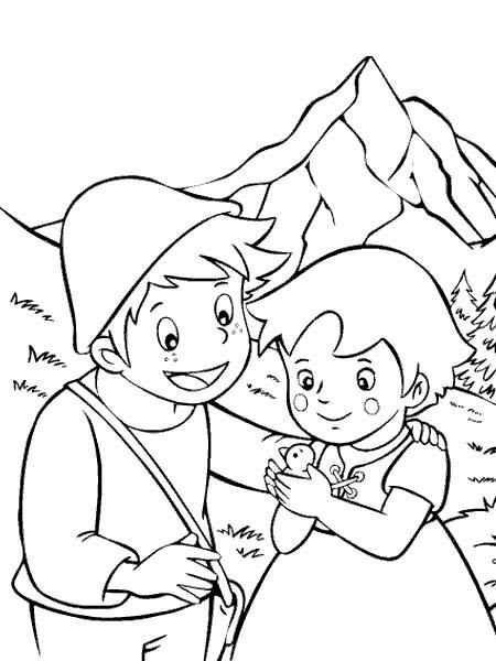disegni da colorare heidi gratis