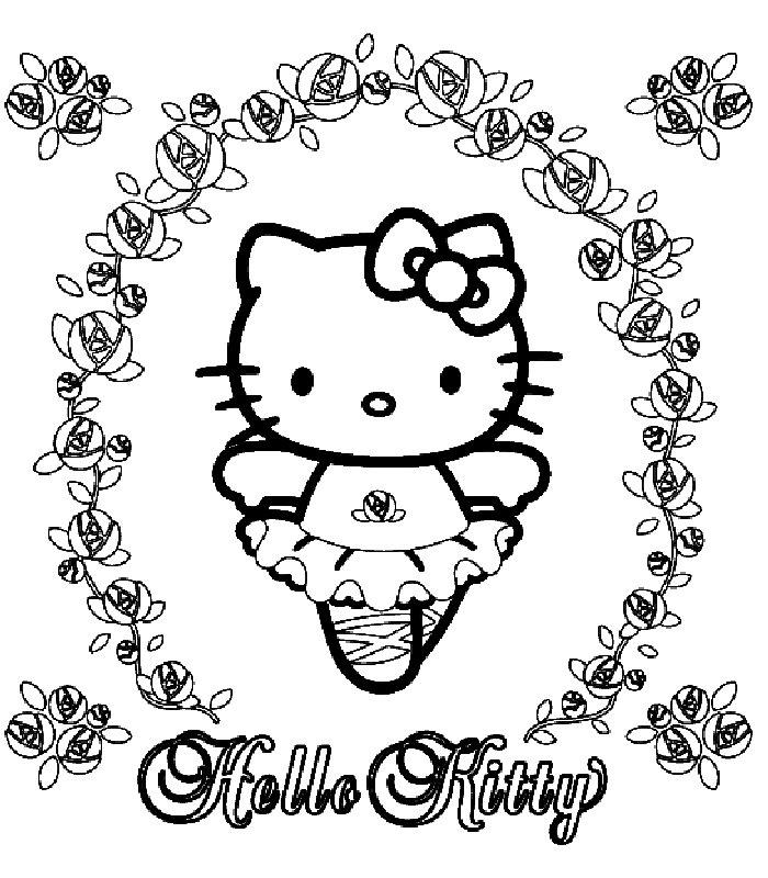 Hello Kitty Da Colorare E Stampare.Hello Kitty Disegni Per Bambini Da Colorare