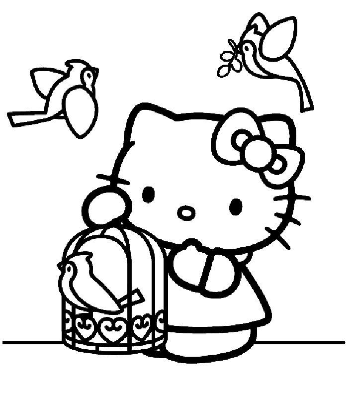 Hello Kitty, Disegni Per Bambini Da Colorare