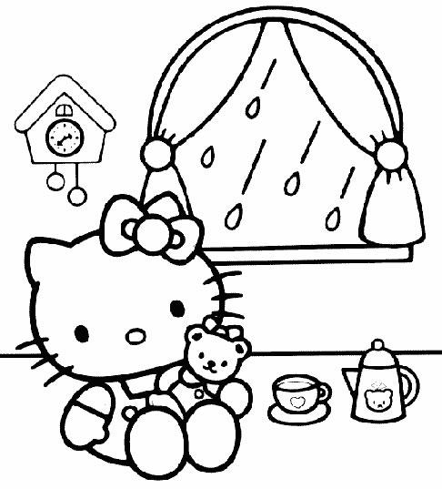 Disegni di hello kitty disegni per bambini da stampare e for Disegni da colorare hello kitty