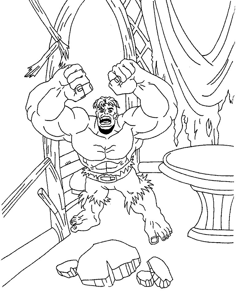 Hulk Disegni Per Bambini Da Colorare