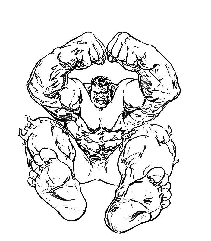 Hulk 6 Disegni Per Bambini Da Colorare