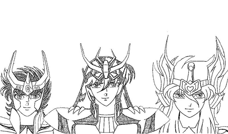 i cavalieri dello zodiaco disegni per bambini da colorare