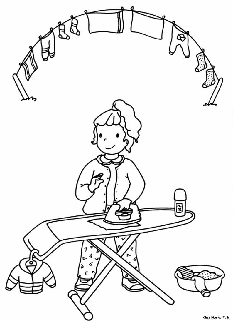 I mestieri 6 disegni per bambini da colorare for Disegni di casa da stampare