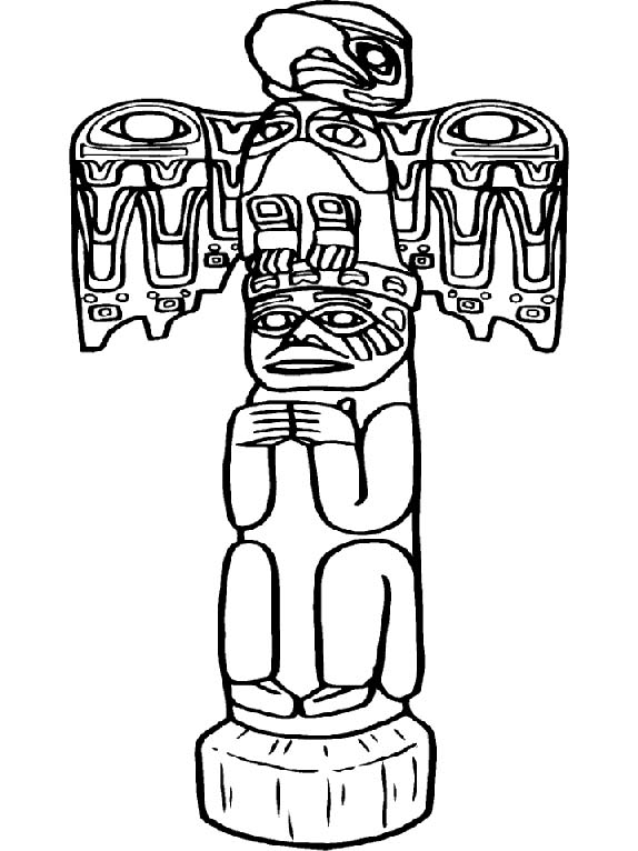 indian symbols coloring pages - photo#17