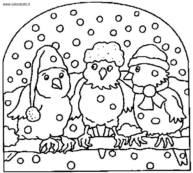Inverno 3 Disegni Per Bambini Da Colorare
