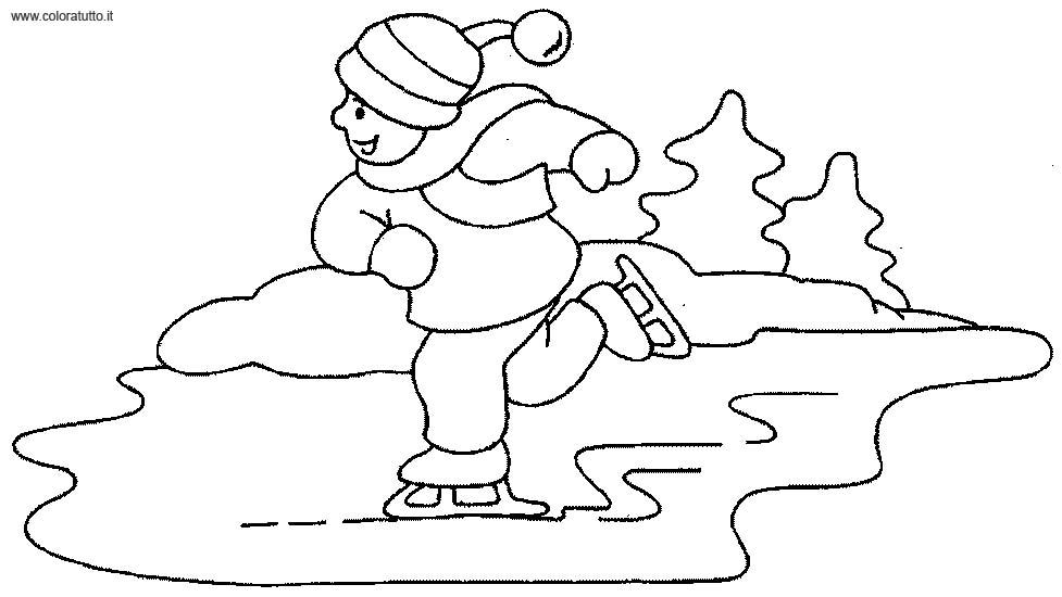 disegni da colorare gratis per bambini inverno