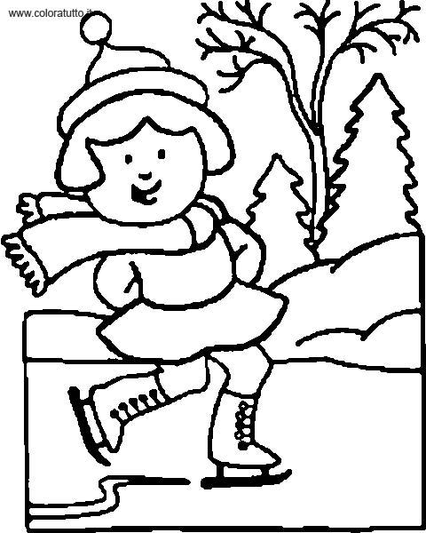 disegni da colorare e stampare per bambini inverno