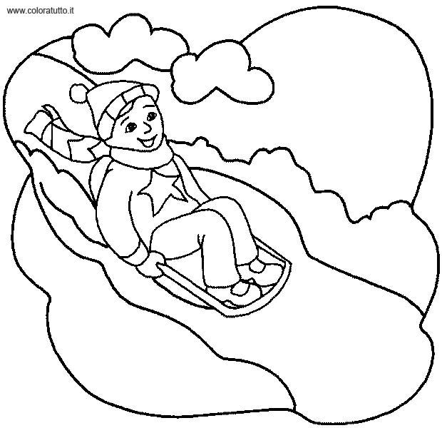 Inverno 14 disegni per bambini da colorare for Disegni sull inverno