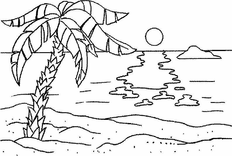 Isola disegni per bambini da colorare for Immagini di mare da colorare