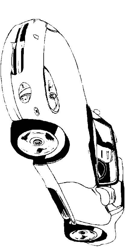 Macchine 3 disegni per bambini da colorare - Profili auto per colorare ...