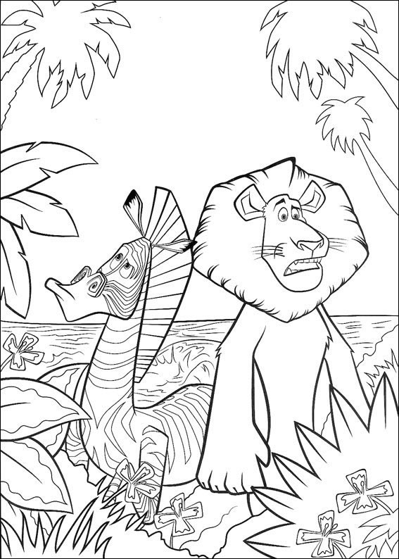 Rio 2 Coloring Pages Pdf : Madagascar disegni per bambini da colorare