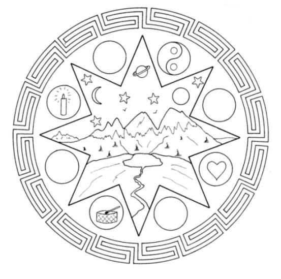 Mandala disegni per bambini da colorare - Mandala amour ...
