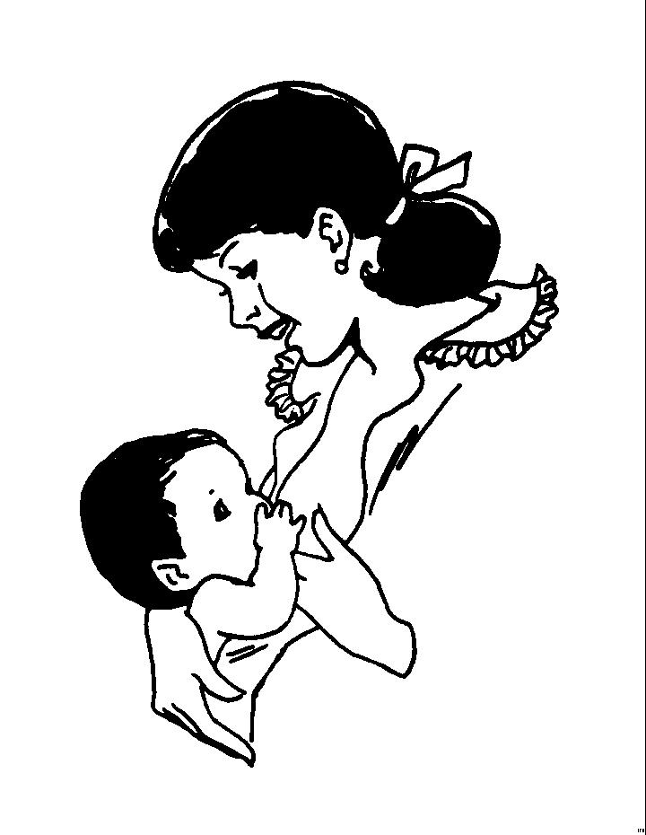 Maternita disegni per bambini da colorare for Neonati da colorare e stampare