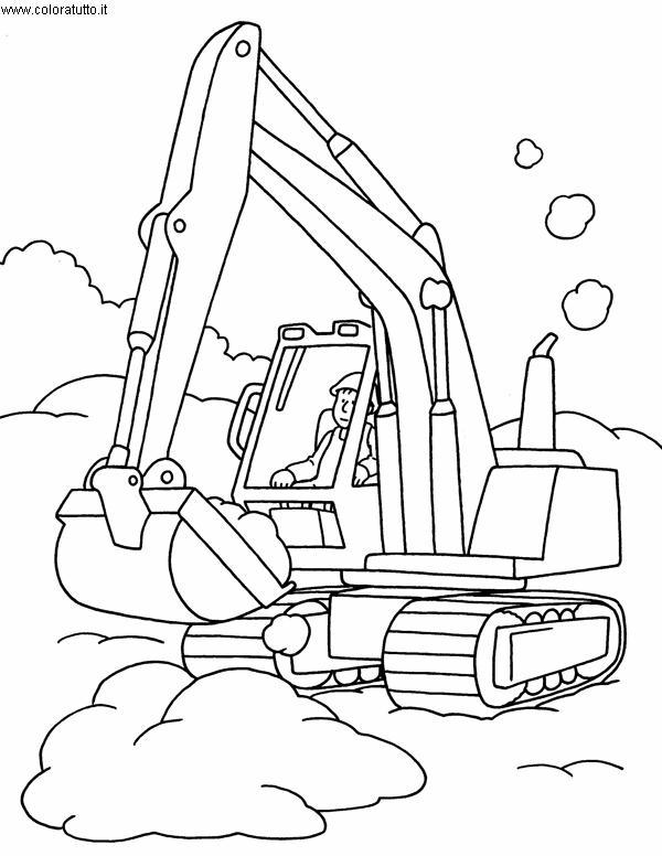 Kleurplaat Bulldozer Mezzi Pesanti 2 Disegni Per Bambini Da Colorare