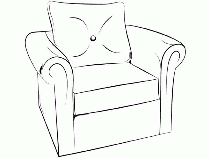 mobili disegni per bambini da colorare On disegni di mobili creativi