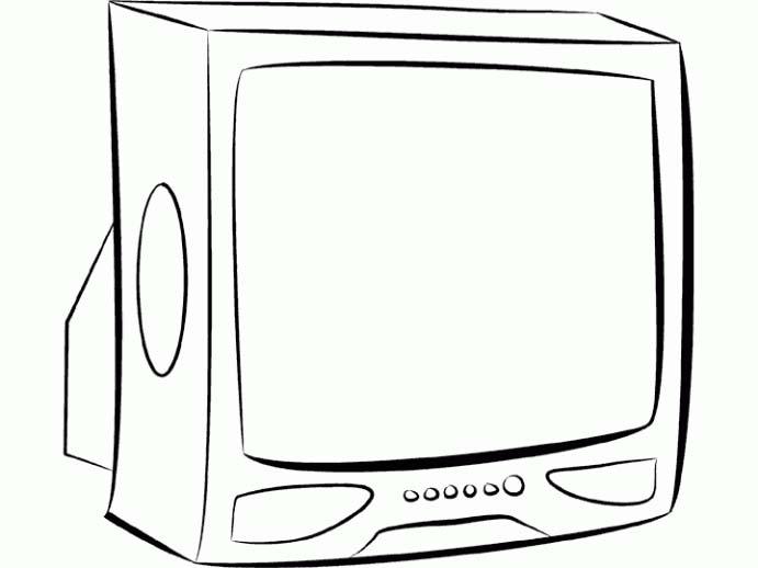 Disegno Televisione Da Colorare.Mobili Disegni Per Bambini Da Colorare