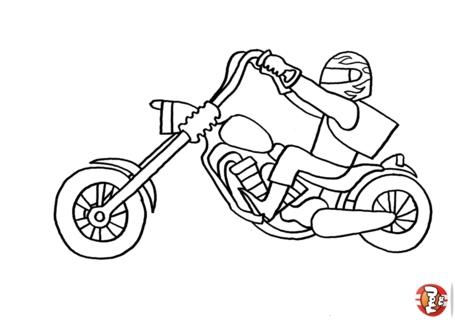 Moto 2 disegni per bambini da colorare for Sito per disegnare