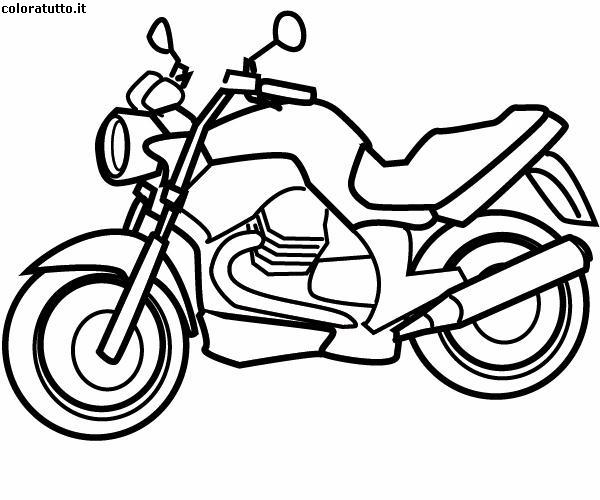 Immagini Di Moto Da Colorare.Moto Disegni Per Bambini Da Colorare