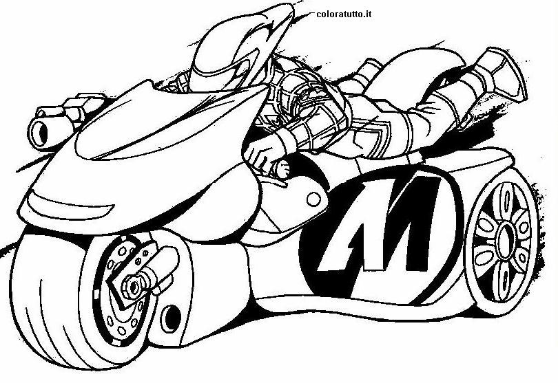 Moto 2 disegni per bambini da colorare for Disegni di spiderman da colorare