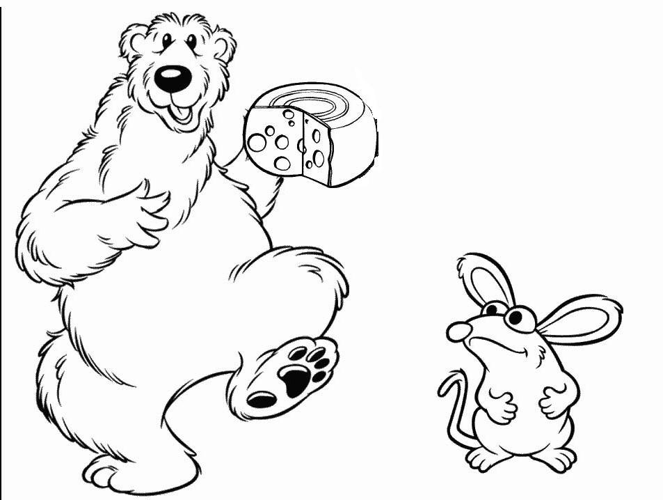 Orsi 2 disegni per bambini da colorare - Orsi polari pagine da colorare ...