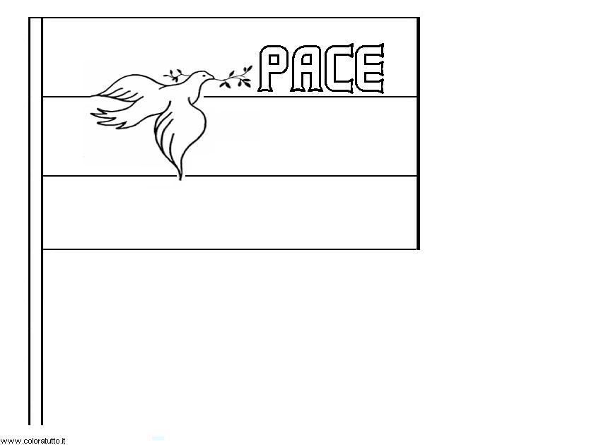 Bandiera Pace Da Colorare Pastoorvanarskijkduin