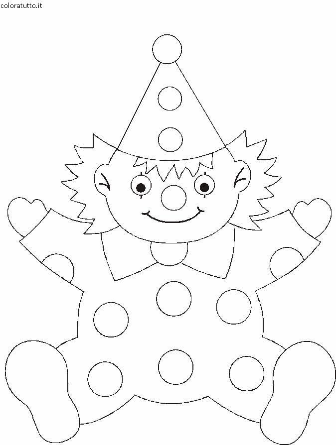 Pagliacci disegni per bambini da colorare for Disegno pagliaccio da colorare
