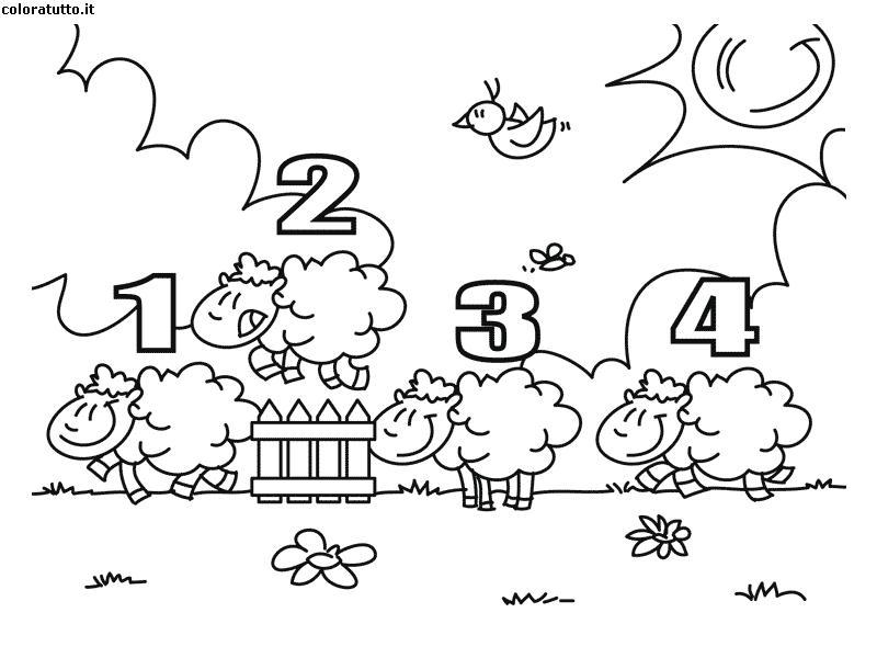 Pecorelle disegni per bambini da colorare for Fattoria immagini da colorare