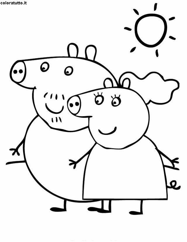Disegni Da Colorare Di Peppa Pig Da Stampare.Peppa Pig Disegni Per Bambini Da Colorare