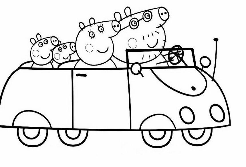 Peppa pig 5 disegni per bambini da colorare for Peppa pig da stampare