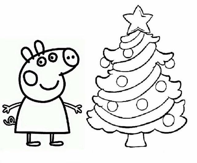 peppa pig 6 disegni per bambini da colorare