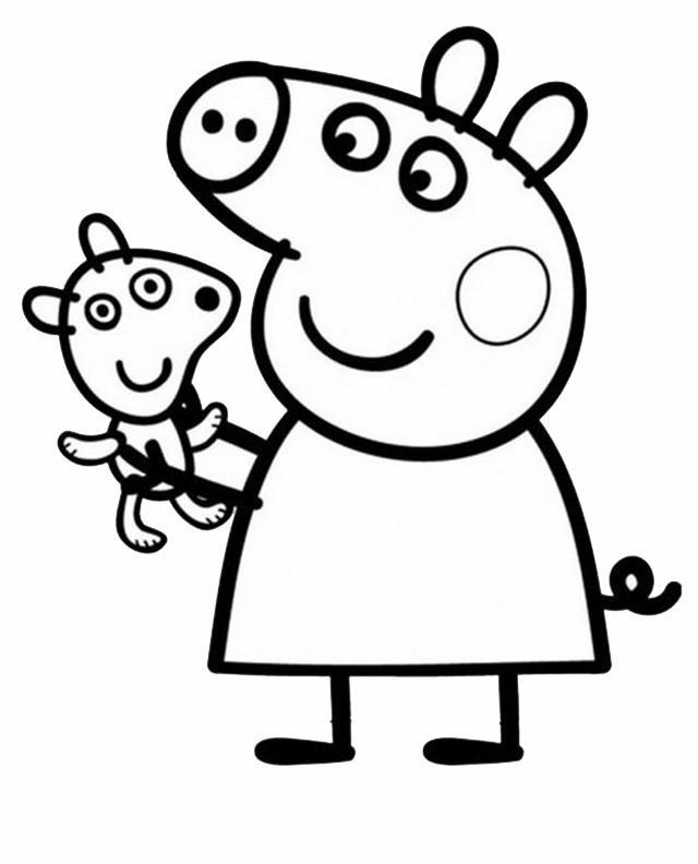 Peppa Pig 6 Disegni Per Bambini Da Colorare Three Kittens Coloring Page