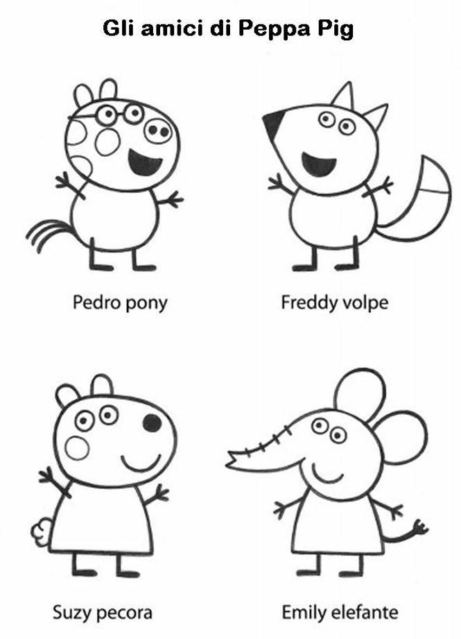 Peppa pig disegni per bambini da colorare for Immagini peppa pig da colorare