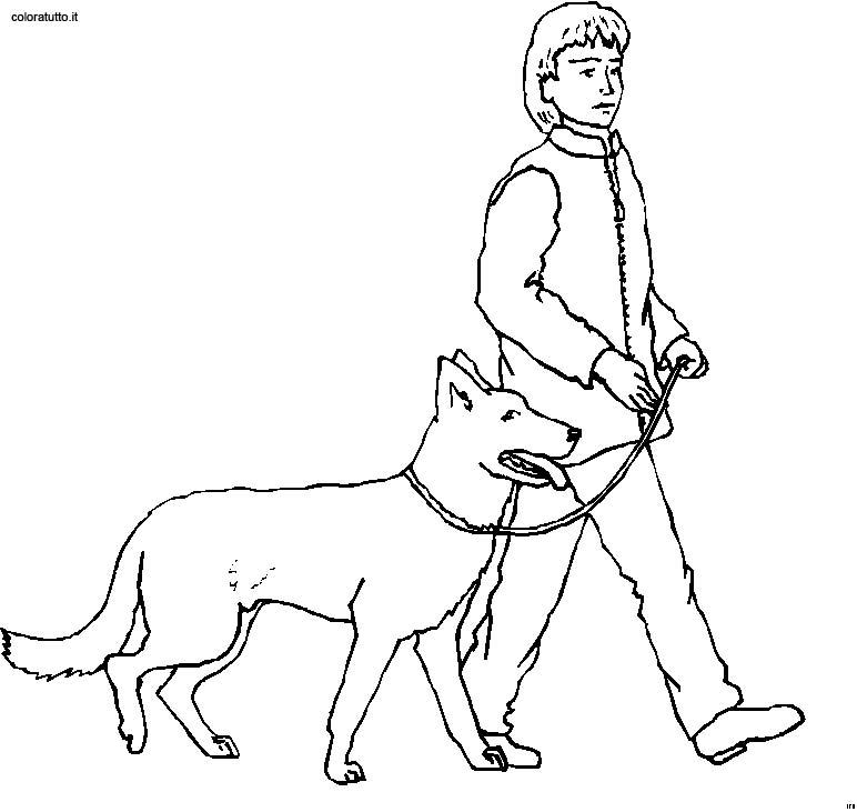 Disegni Persone Da Colorare.Persone Con Animali Disegni Per Bambini Da Colorare