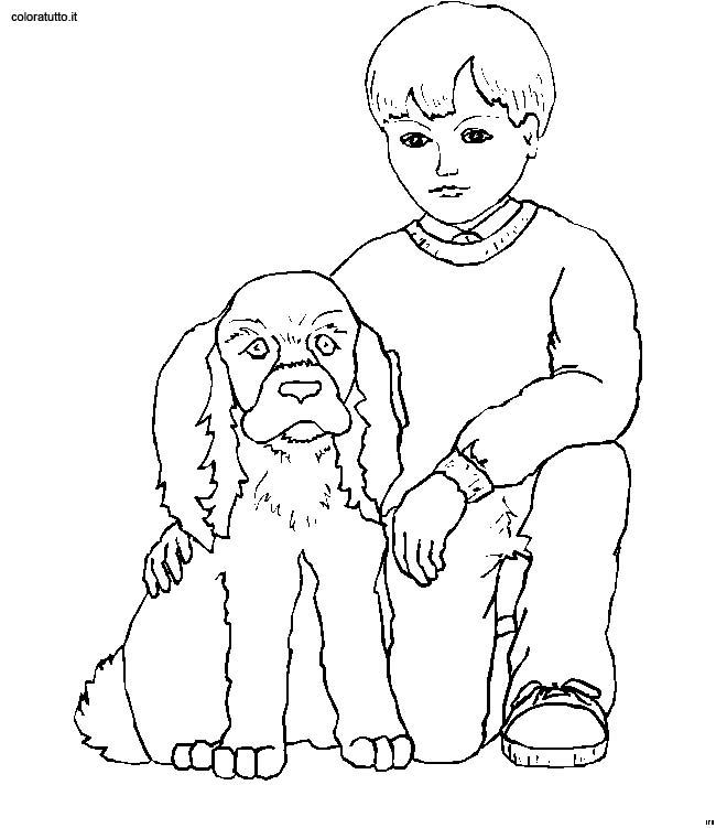Disegni Persone Da Colorare.Persone Con Animali 9 Disegni Per Bambini Da Colorare