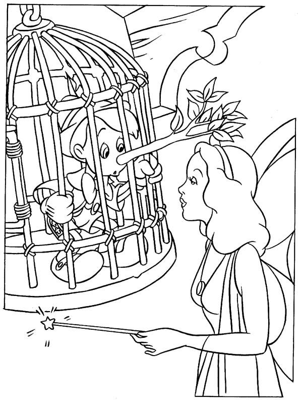 Pinocchio 4 Disegni Per Bambini Da Colorare