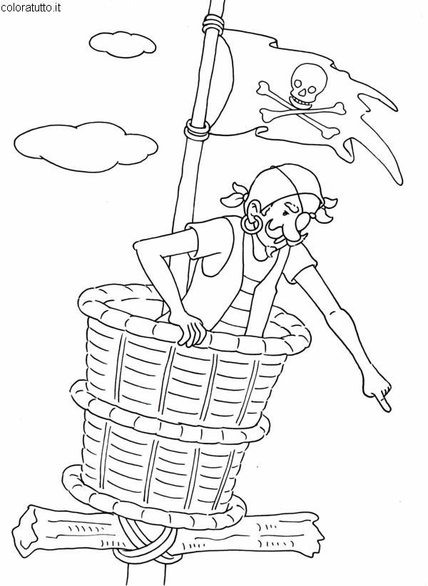Pirati 3 disegni per bambini da colorare for Calciatori da colorare per bambini