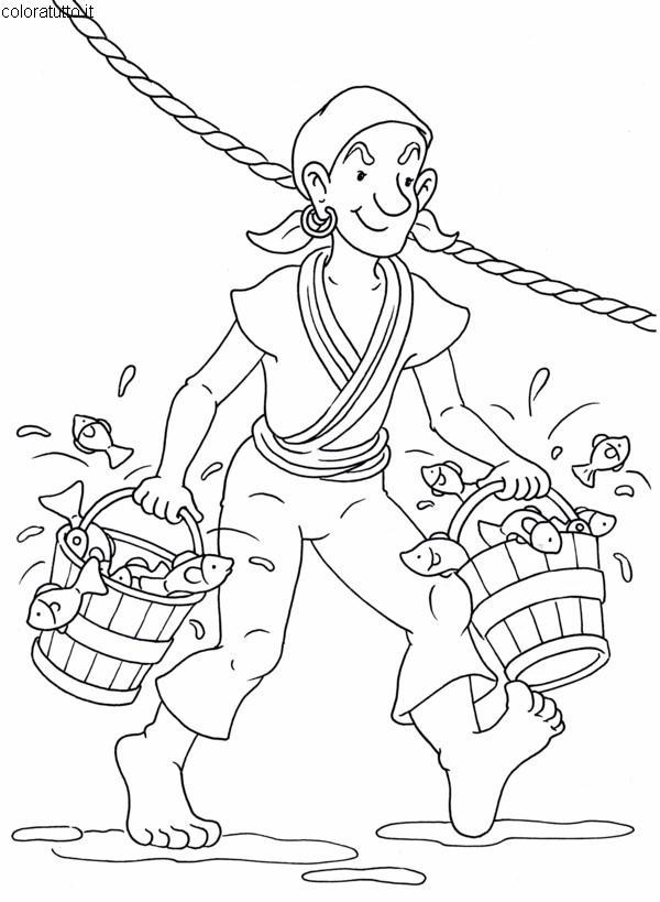 Pirati disegni per bambini da colorare - Ragazzi da colorare in immagini ...