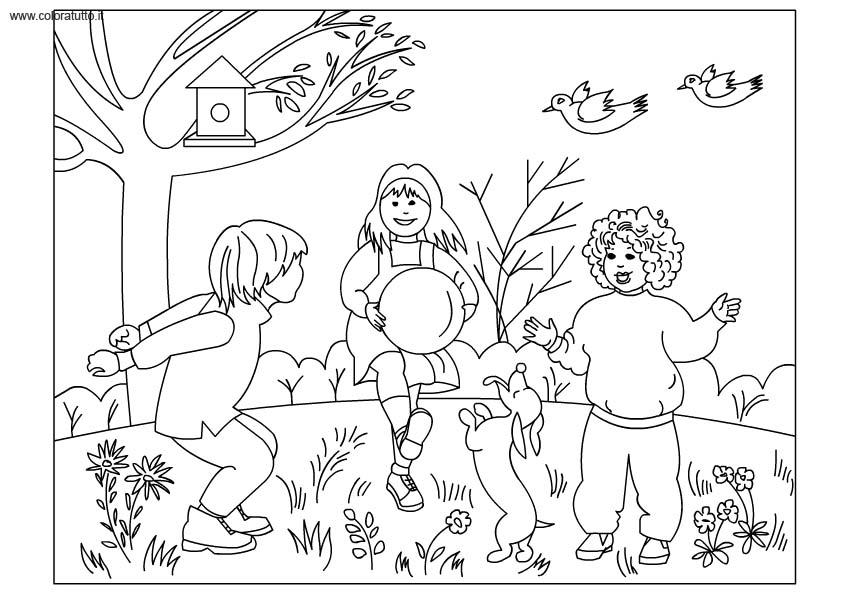 Primavera 54 disegni per bambini da colorare for Immagini sulla primavera da stampare e colorare
