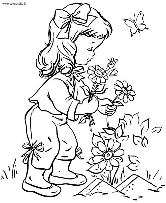 Primavera 8 Disegni Per Bambini Da Colorare