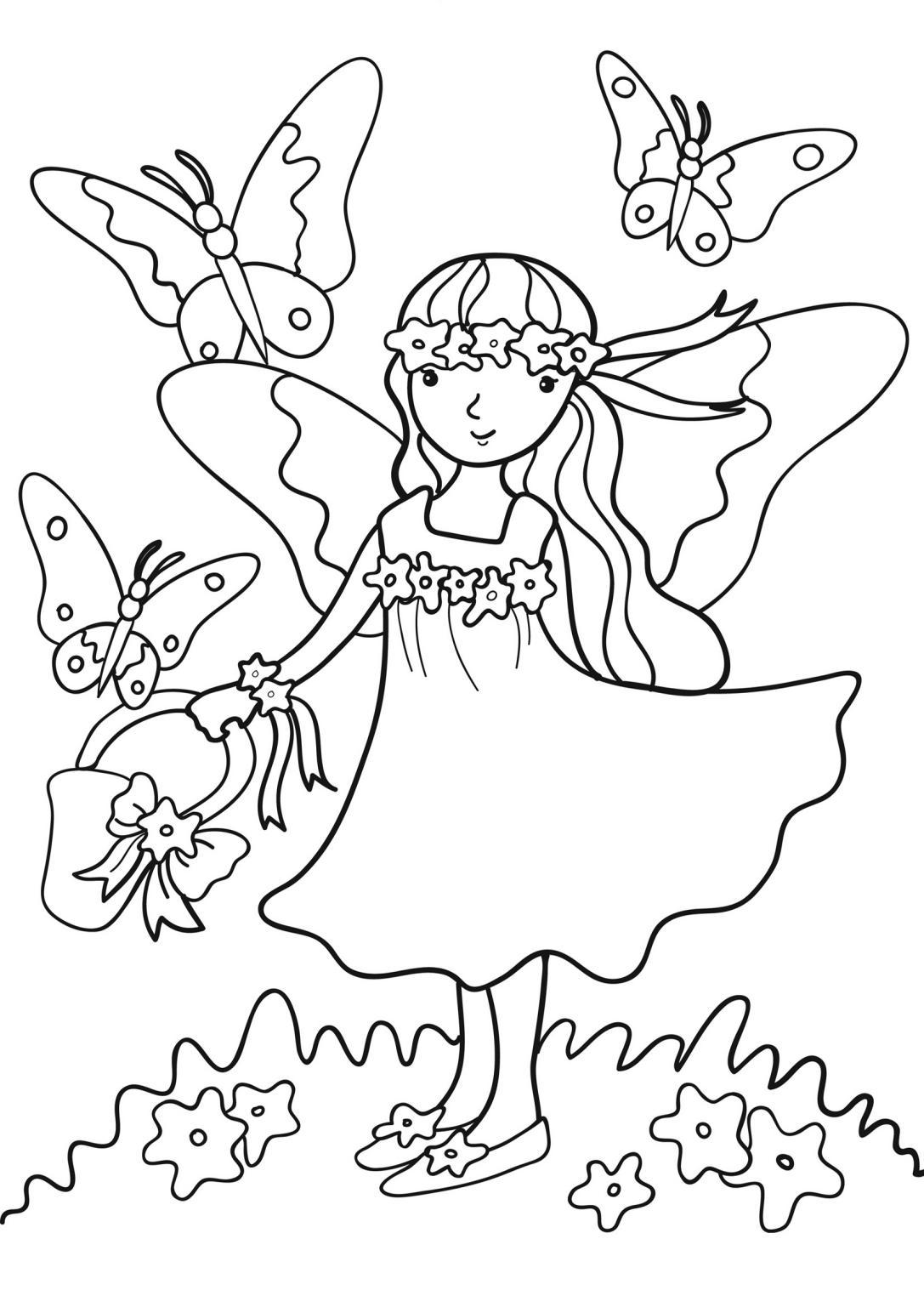 Primavera 9 disegni per bambini da colorare - Immagini da colorare della natura ...