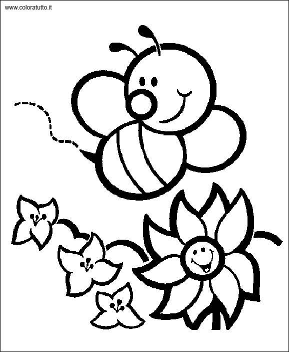 Primavera 2 Disegni Per Bambini Da Colorare