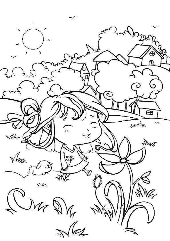 primavera 14 disegni per bambini da colorare